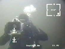 ГНОМ снимает на видео аквалангиста